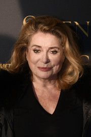 Catherine Deneuve styled her hair into a lob with curly ends for the 'Silence' photocall in Paris.