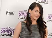Julia Ormond attended the 2012 Independent Spirit Awards wearing her hair in long loose curls.