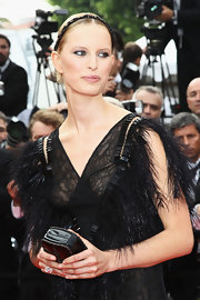 The beautiful Czech model wore a cocktail ring featuring two emerald cut diamonds set in 18-karat white gold.