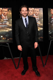 Bradley Cooper chose a classic three-piece suit for his red carpet look at 'The Place Beyond the Pines' premiere in NYC.
