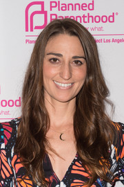 Sara Bareilles wore her long waves loose in a casual style during the Politics, Sex, and Cocktails fundraiser.