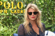 Alexandra Richards worked a messy, wavy 'do with side-swept bangs at the Polo Ralph Lauren fashion show.