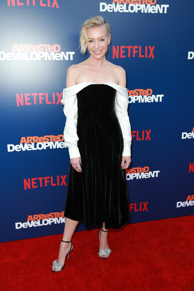 Portia de Rossi Off-the-Shoulder Dress