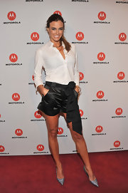 Kelly Bensimon opted for a classic look at the Droid Razr launch party in a crisp white button down shirt.