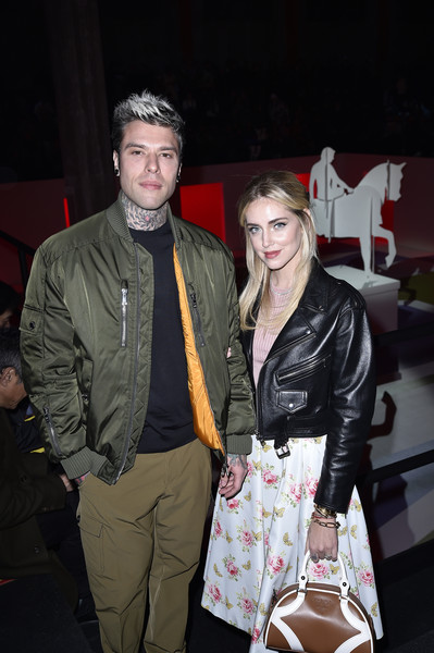 More Pics of Chiara Ferragni Leather Jacket (1 of 4) - Outerwear Lookbook - StyleBistro [fashion show,fashion,event,leather jacket,textile,leather,fashion design,outerwear,fun,jacket,arrivals,chiara ferragni,r,fedez,prada fall,front row,milan,italy,prada show,chiara ferragni,fedez,chiara ferragni \u2014 unposted,milan,fashion,chiara ferragni - unposted,livingly media,celebrity,red carpet,fashion week]
