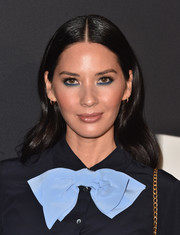 Olivia Munn wore a gently wavy, center-parted hairstyle at the LA premiere of 'Past Forward.'
