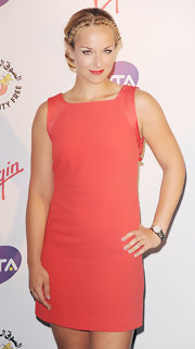 Sabine Lisicki's mini dress brightened up the red carpet.
