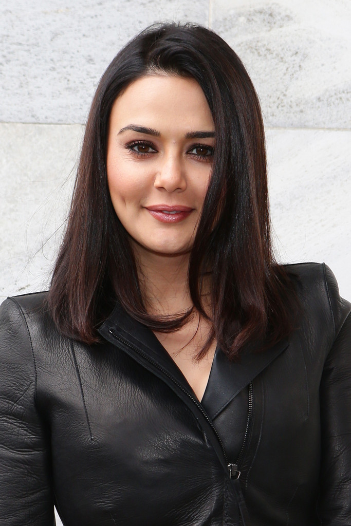 Preity Zinta Medium Straight Cut Preity Zinta Looks