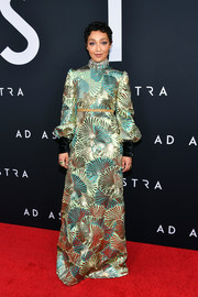 Ruth Negga looked opulent in a sequin-embellished gown by Gucci at the premiere of 'Ad Astra.'