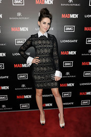 Alison Brie wore this charming collared dress to the 'Mad Men' season premiere.