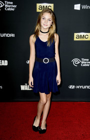 Brighton Sharbino kept it youthful with a pair of bow-adorned black ballet flats.