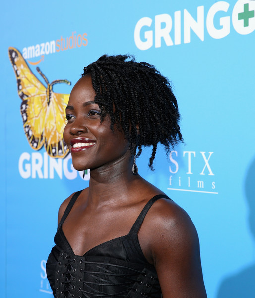 Lupita Nyong'o looked funky with her messy dreadlocks at the premiere of 'Gringo.'