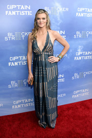 Missi Pyle brought some beach glamour to the 'Captain Fantastic' premiere with this teal and nude halter dress.