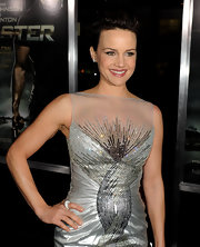 Actress Carla Gugino attended the premiere of 'Faster' wearing a sterling silver pave dome ring.