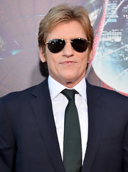 Denis Leary topped off his red carpet look with classic black aviators.