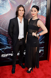 Fivel Stewart teased the crowd with a sheer maxi dress at 'The Amazing Spider-Man' premiere.