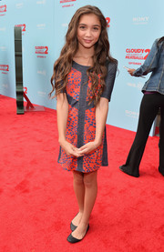 Rowan Blanchard kept her look youthful with a pair of black ballet flats.