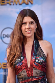 Marisa Tomei wore her hair down with barely-there waves at the premiere of 'Spider-Man: Homecoming.'