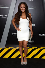 Little white dresses like Meagan's are all the rage in Hollywood right now!