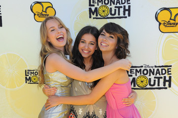 "Hayley Kiyoko Bridgit Mendler Premiere Of Disney Channel's ""Lemonade Mouth"" At Stevenson Middle School"