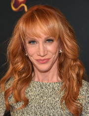 Kathy Griffin sported sweet-looking waves along with her trademark bangs during the 'Descendants' premiere.