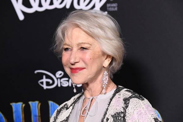 Helen Mirren wore her hair in a casual bob at the premiere of 'Dumbo.'