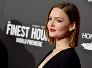 Holliday Grainger's matte red lipstick added just the right amount of oomph to her look!