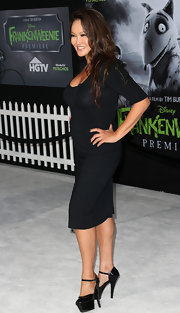 Those sky-high black platform pumps Tia Carrere wore to the 'Frankenweenie' premiere were real attention grabbers!