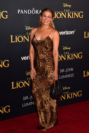 LeAnn Rimes slipped into a leopard-print gown by Nili Lotan for the premiere of 'The Lion King.'