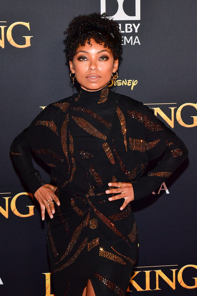 More Pics of Logan Browning Pumps (1 of 2) - Logan Browning Lookbook - StyleBistro [the lion king,fashion,fashion model,magazine,black hair,premiere,carpet,fashion design,style,arrivals,logan browning,california,hollywood,dolby theatre,disney,premiere,premiere]