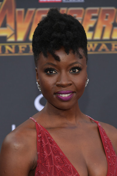 Danai Gurira rocked a curly mohawk at the premiere of 'Avengers: Infinity War.'