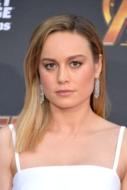 Brie Larson wore her hair just past her shoulders in a simple straight style at the premiere of 'Avengers: Infinity War.'