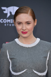 Karen Gillan kept it youthful with this side-parted ponytail at the premiere of 'Avengers: Infinity War.'