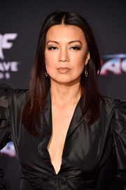 Ming-Na Wen sported a simple center-parted 'do at the premiere of 'Thor: Ragnarok.'