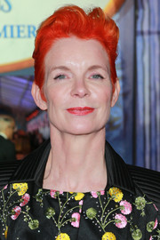Sandy Powell rocked a bright red fauxhawk at the premiere of 'Mary Poppins Returns.'