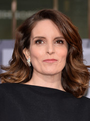 Tina Fey looked lovely at the 'Muppets Most Wanted' premiere wearing her hair in high-volume waves.
