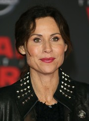 Minnie Driver opted for a casual ponytail when she attended the premiere of 'Star Wars: The Last Jedi.'