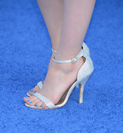 Laura Marano chose a super sparkly silver pump for her look at the 'Monsters University' premiere.