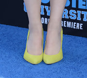 Taylor Spritler opted for a fun and playful light green pump at the 'Monsters University' premiere.