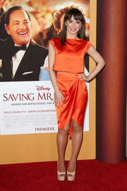 A draped high-low skirt added some sexiness to Karina Smirnoff's look.