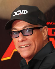 Jean-Claude Van Damme wore a black baseball cap embroidered with his initials to the 'Kung Fu Panda 2' premiere.