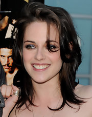 Kristen Stewart showed off her medium length waves while hitting the Love Ranch premiere.