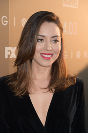 Aubrey Plaza wore her hair in a stylish layered cut at the premiere of 'Legion' season 2.
