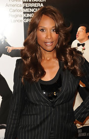 "Actress Beverly Johnson displayed her strawberry blonde curls a the premiere of ""Our family Wedding"". Although her sparkling top and pin-stripped suit were a fashion flub."