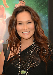Tia Carrere wore her hair in big bouncy curls at the premiere of 'ParaNorman.'
