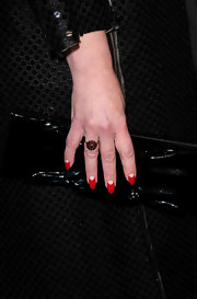 Debi Mazar showed off a perfectly polished moon mani while attending the premiere of 'Somewhere.' The perfect finish to any look!