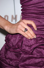 Michelle paired her perfect manicure with a purple gemstone ring.