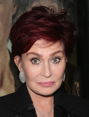 Sharon Osbourne styled her hair into an edgy-chic razor cut for the premiere of 'Suffragette.'