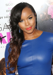 Letoya Luckett fixed her locks in a pretty side-sweep for the premiere of 'Baggage Claim.'