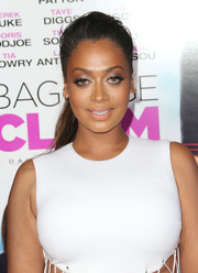 La La Anthony wore her hair in a messy-glam teased ponytail during the premiere of 'Baggage Claim.'